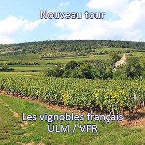Tour ULM/VFR des vignobles français